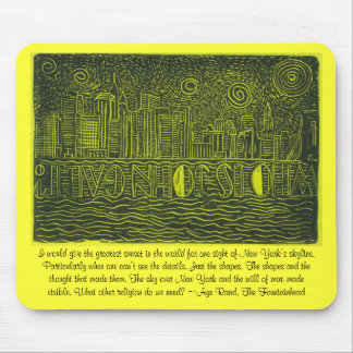 Starry Night Over New York...Who Is John Galt? Mouse Pad