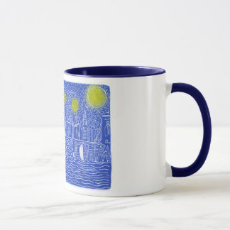 Starry Night Over New York...Who Is John Galt? Mug