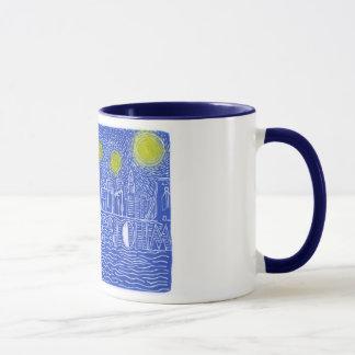 Starry Night Over New York...Who Is John Galt? Mug