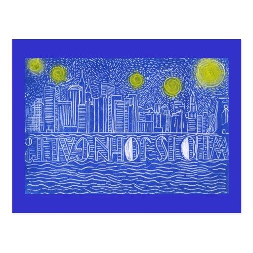 Starry Night Over New York...Who Is John Galt? Postcards