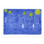 Starry Night Over New York...Who Is John Galt? Postcard