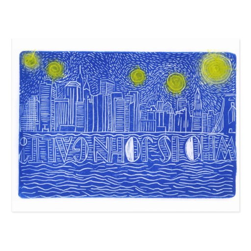 Starry Night Over New York...Who Is John Galt? Post Cards