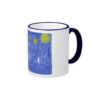 Starry Night Over New York...Who Is John Galt? Ringer Mug