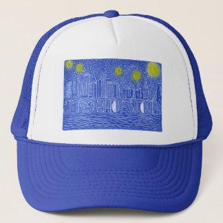 Starry Night Over New York...Who Is John Galt? Trucker Hat