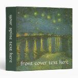Starry Night Over Rhone by Vincent van Gogh Vinyl Binders