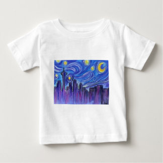 Starry Night Over Seattle Baby T-Shirt