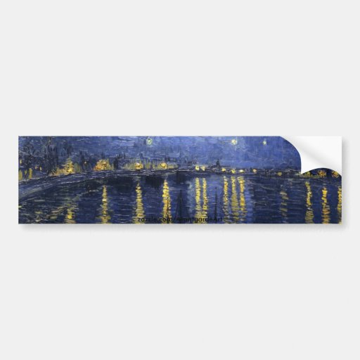 Starry Night Over the Rhone Bumper Stickers