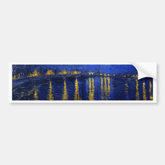 Starry Night Over The Rhone Bumper Sticker