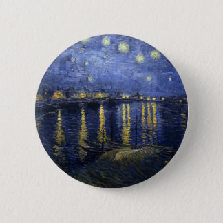Starry Night Over the Rhone Button