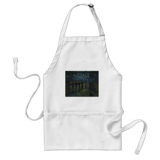 Starry Night Over the Rhone by Van Gogh Adult Apron