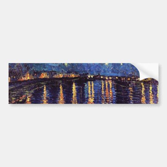 Starry night over the Rhone by Van Gogh Bumper Sticker