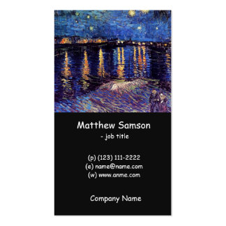 Starry night over the Rhone by Van Gogh Business Card