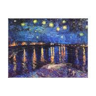 Starry night over the Rhone by Van Gogh Canvas Print