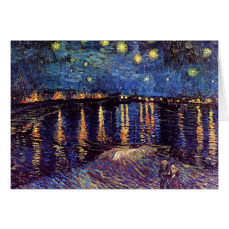 Starry night over the Rhone by Van Gogh Greeting Card