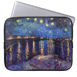 Starry night over the Rhone by Van Gogh Computer Sleeves