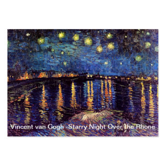 Starry night over the Rhone by Van Gogh Large Business Card