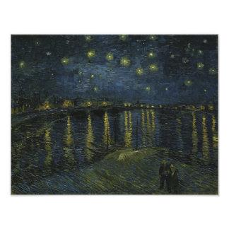 Starry Night Over the Rhone by Van Gogh Art Photo