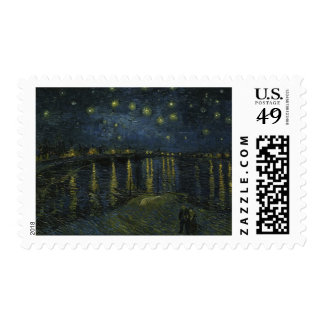 Starry Night Over the Rhone by Van Gogh Postage