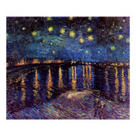Starry night over the Rhone by Van Gogh Poster