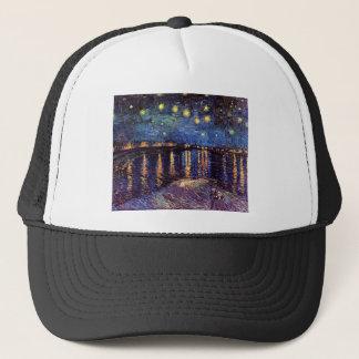 Starry night over the Rhone by Van Gogh Trucker Hat