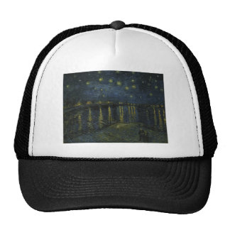Starry Night Over the Rhone by Van Gogh Trucker Hat