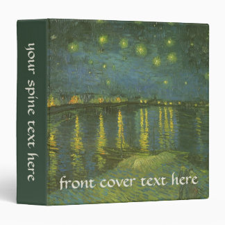 Starry Night Over the Rhone by Vincent van Gogh 3 Ring Binder