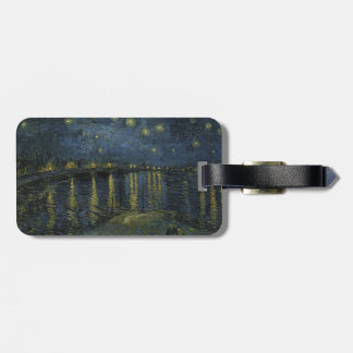 Starry Night Over the Rhone by Vincent Van Gogh Bag Tag
