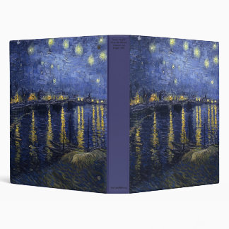 Starry Night Over the Rhone by Vincent van Gogh Binder