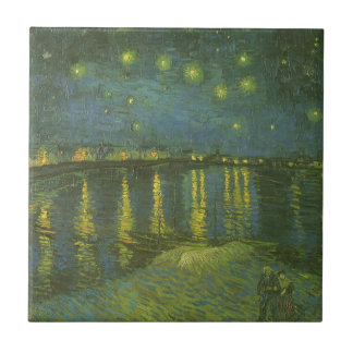Starry Night Over the Rhone by Vincent van Gogh Ceramic Tile