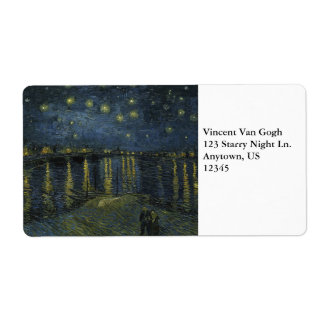 Starry Night Over the Rhone by Vincent Van Gogh Shipping Labels