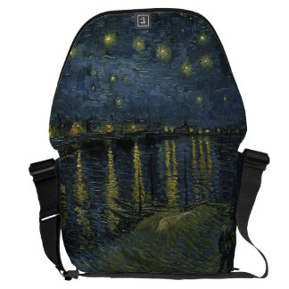 Starry Night Over the Rhone by Vincent Van Gogh Courier Bag