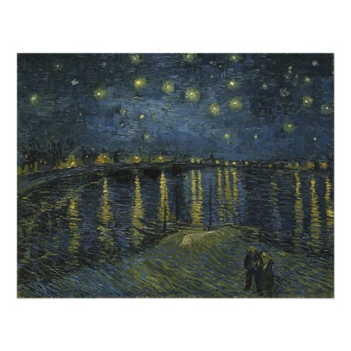 Starry Night Over the Rhone by Vincent Van Gogh Photo Art