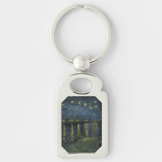 Starry Night Over the Rhone by Vincent Van Gogh Key Chains