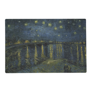 Starry Night Over the Rhone by Vincent Van Gogh Placemat