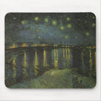 Starry Night Over the Rhone Mouse Pad