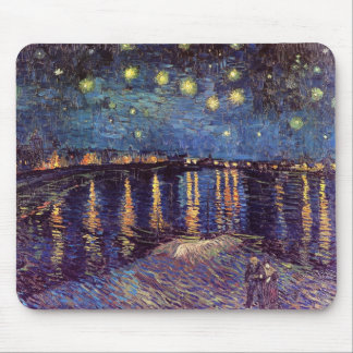 Starry Night Over The Rhone Mouse Pads