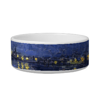 Starry Night Over the Rhone Pet Bowl