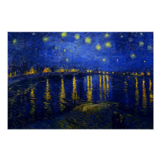 Starry Night Over the Rhone Posters
