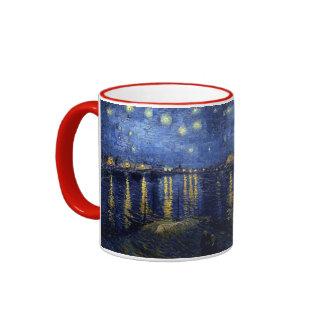 Starry Night Over the Rhone Ringer Coffee Mug