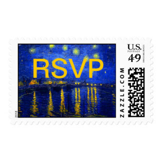 Starry Night Over The Rhone  RSVP Postage Stamp
