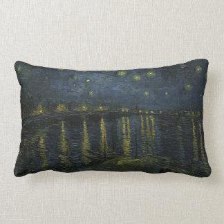 Starry Night over the Rhone Throw Pillow Lumbar