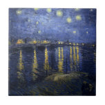 Starry Night Over the Rhone Tile