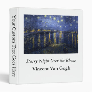 Starry Night Over the Rhone - Van Gogh (1888) 3 Ring Binder
