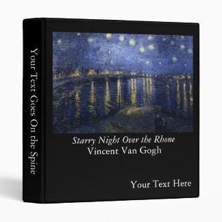 Starry Night Over the Rhone - Van Gogh (1888) Binder
