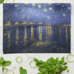 Starry Night Over the Rhone - Van Gogh (1888) Hand Towel