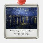 Starry Night Over the Rhone - Van Gogh (1888) Christmas Tree Ornaments