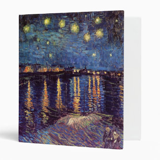 Starry Night Over the Rhone - Van Gogh Binder