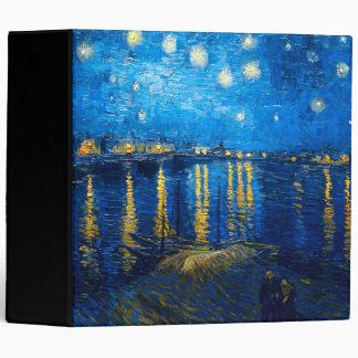 Starry Night Over the Rhone, Van Gogh Vinyl Binder
