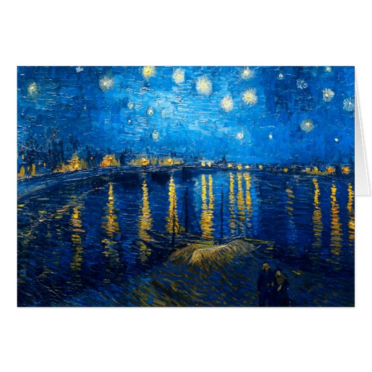 Starry Night Over the Rhone, Van Gogh Card