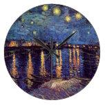 Starry Night Over the Rhone - Van Gogh Clocks